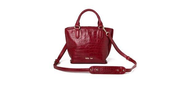 Dámská červená kabelka se vzorem krokodýlí kůže Kate Lee