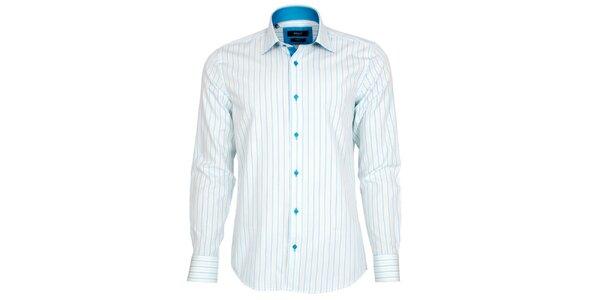 Pánská modro-bíle pruhovaná košile Brazzi