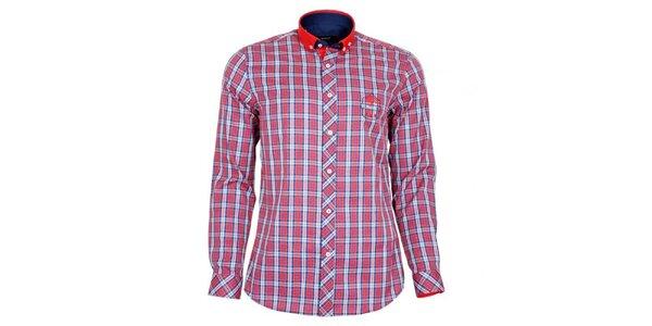 Pánská červeně kostičkovaná košile Brazzi