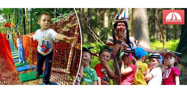 1 den v dětském a lanovém parku v Beskydech