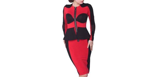 Dámské červeno-černé šaty Arefeva