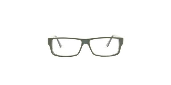 Zelené hranaté brýlové obroučky Emporio Armani