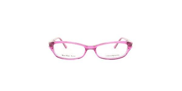 Dámské fuchsiově růžové brýlové obroučky Emporio Armani