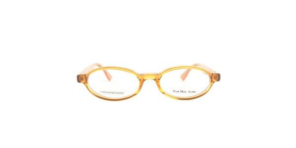 Dámské oválné oranžové brýlové obroučky Emporio Armani