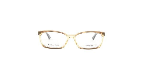 Dámské hnědé transparentní brýlové obroučky Emporio Armani