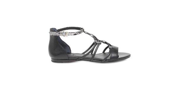 Dámské kožené černé boty Arezzo