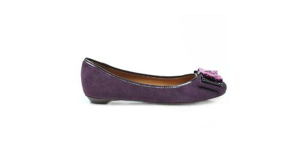 Dámské fialové balerínky s mašlí Arezzo