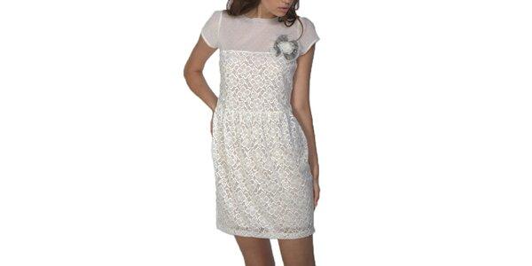 Dámské kratké šaty v bílé barvě Arefeva