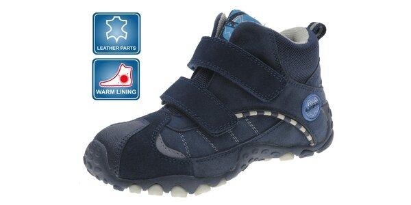Tmavě modré dětské zimní zateplené boty Beppi