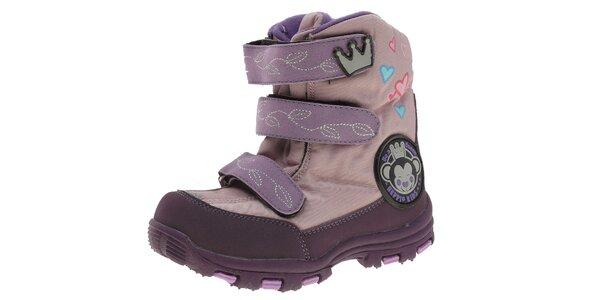 Dětské fialové sněhule Beppi