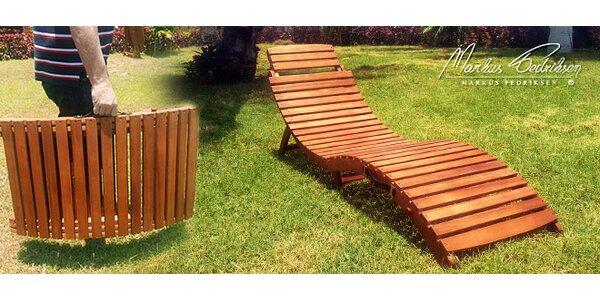 Skládací lehátko Markus Pedriksen® z eukalyptového dřeva