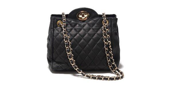 Dámská černá zaoblená kabelka z kůže Isabella Rhea