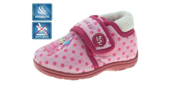 0a3c112cd88b Dětské růžové voňavé bačkůrky Beppi