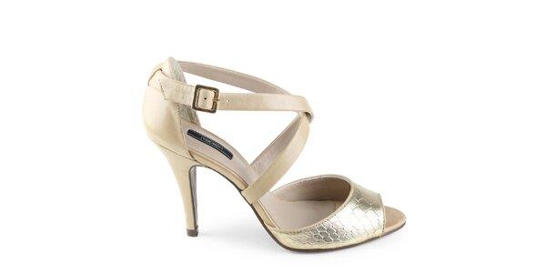 Dámské zlaté sandálky Made In
