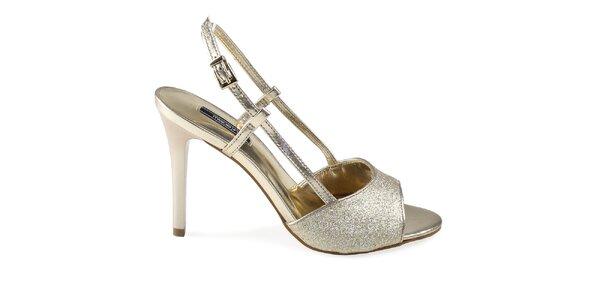 Dámské třpytivé sandálky Made In