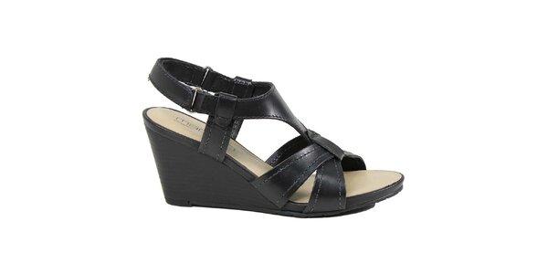 Dámské černé sandálky na klínu Made In