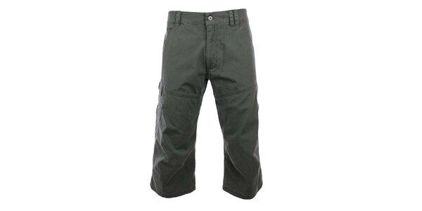Pánské šedozelené 3/4 kalhoty Hannah