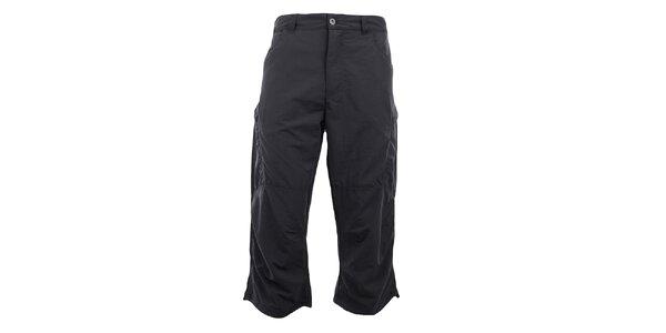 Pánské 3/4 tmavě šedé funkční kalhoty Hannah