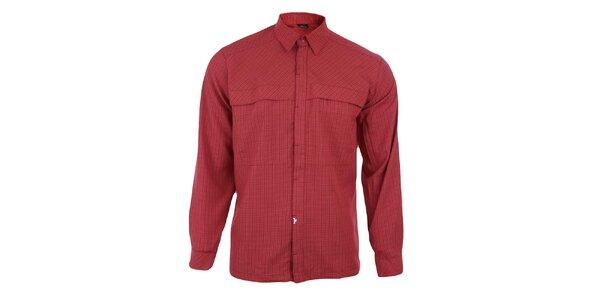 Pánská červeně kostkovaná košile se skrytou légou Hannah
