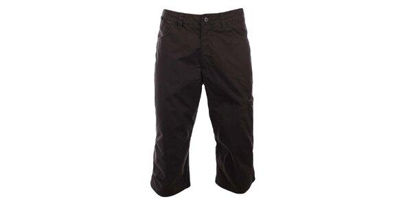 Pánské tmavě hnědé tříčtvrteční kalhoty Hannah