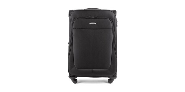 Velký černý cestovní kufr Wittchen se čtyřmi kolečky