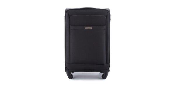 Černý cestovní kufr se čtyřmi kolečky Wittchen