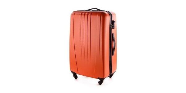 Oranžový skořepinový kufr Wittchen