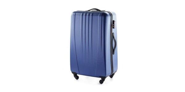 Modrý skořepinový kufr Wittchen