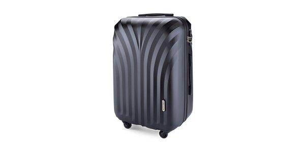 Středně velký černý cestovní kufr Wittchen