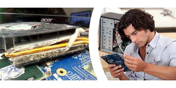 Expres čištění notebooku nebo počítače od prachu do 24 hodin