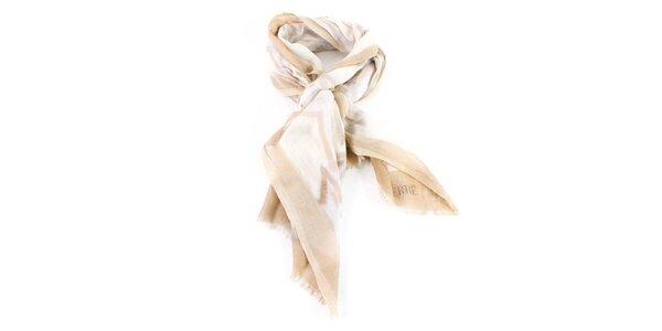 Dámský béžový vzorovaný šátek Gianfranco Ferré