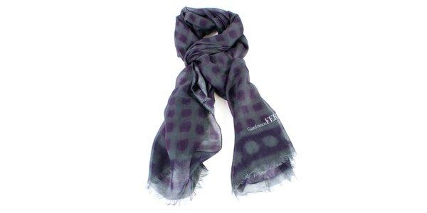 Dámský fialovo-šedý šátek Gianfranco Ferré