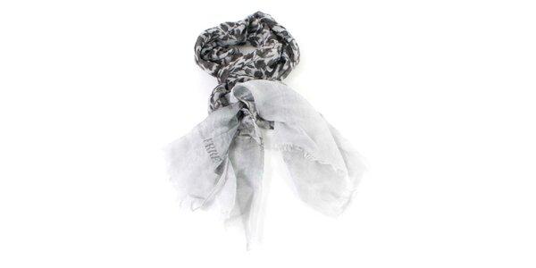 Dámský šedý vzorovaný šátek Gianfranco Ferré