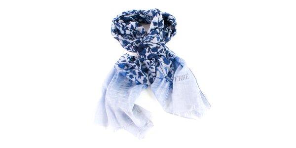 Dámský modrý vzorovaný šátek Gianfranco Ferré