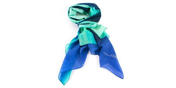 Dámský modro-zelený šátek Gianfranco Ferré
