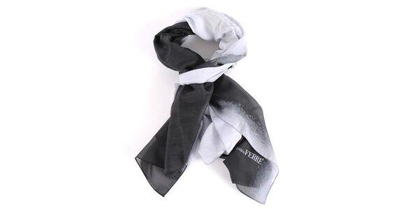 Dámský černo-šedý šátek Gianfranco Ferré