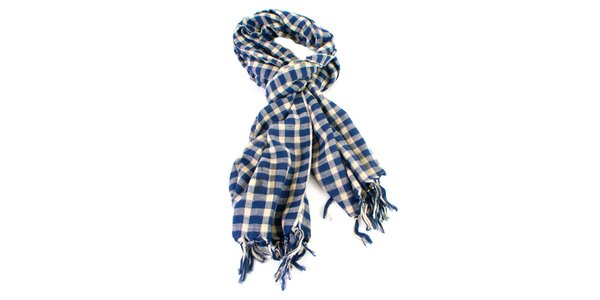 Modře kostkovaný šátek Gianfranco Ferré
