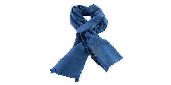 Modrý hedvábný šátek Gianfranco Ferré