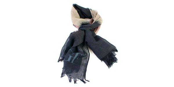 Lehký šátek s barevnými přechody Gianfranco Ferré
