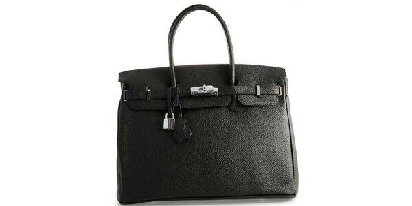Dámská černá kožená kufříková kabelka Florence Bags