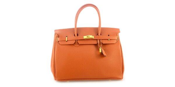 Dámská koňakově hnědá kožená kufříková kabelka Florence Bags