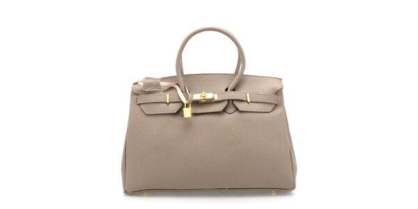 Dámská šedá kožená kufříková kabelka Florence Bags