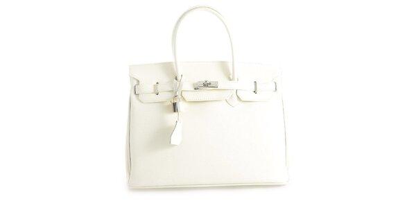 Dámská bílá kožená kufříková kabelka Florence Bags