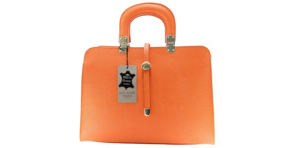 Dámská oranžová vzorovaná kabelka Florence Bags
