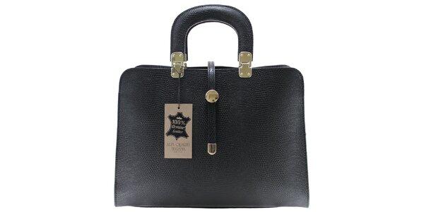 Dámská černá vzorovaná kabelka Florence Bags