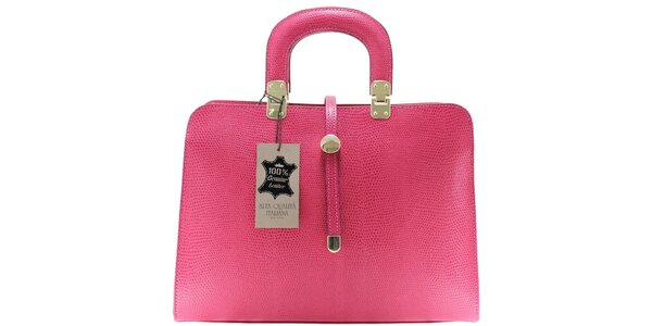 Dámská růžová vzorovaná kabelka Florence Bags