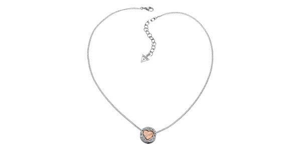 Dámský náhrdelník Guess se srdíčkem