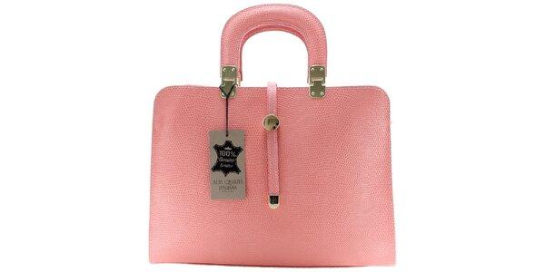 Dámská světle růžová vzorovaná kabelka Florence Bags