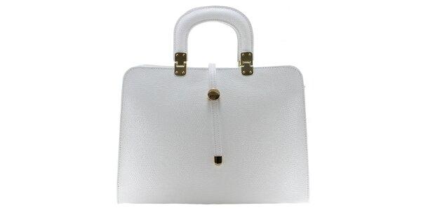 Dámská bílá vzorovaná kabelka Florence Bags