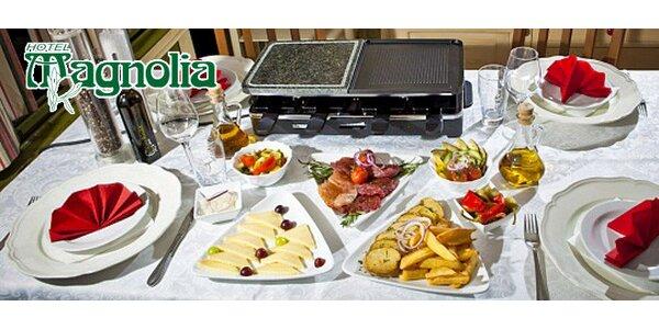 Raclette pro dva - 3 druhy masa, zelenina, přílohy